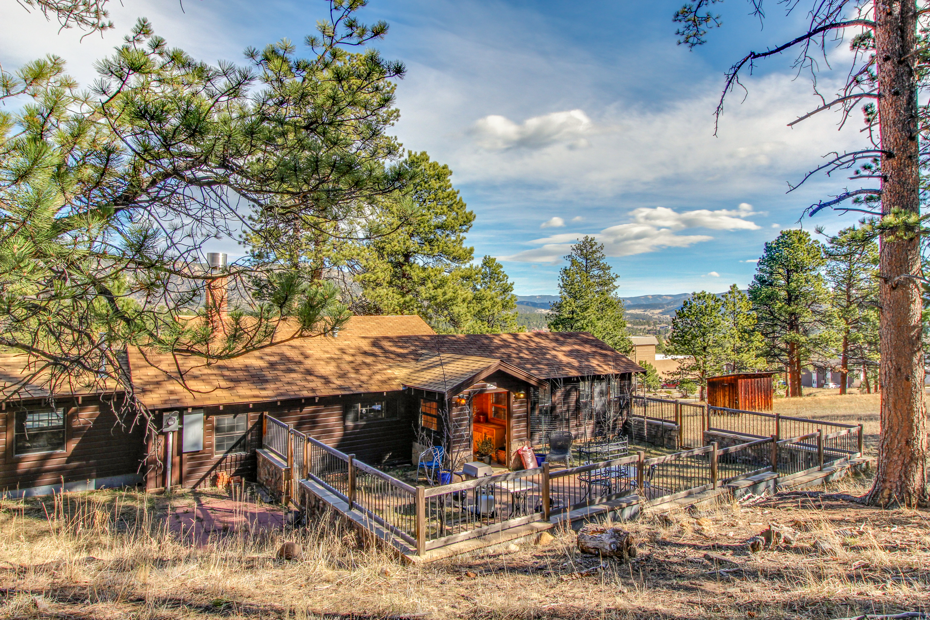 eagle white in vacation estes cabins property park rental redawning ranch colorado